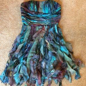 Cache blue/purple watercolor mermaid dress